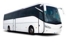De witte Bus van de Reis stock afbeeldingen