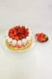 De witte cake van het chocoladedessert royalty-vrije stock afbeelding