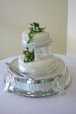 De witte Cake van het Huwelijk - 2 Stock Foto's