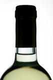 De witte close-up van de wijnfles Royalty-vrije Stock Fotografie