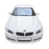 De witte convertibele auto van BMW 335i Stock Foto