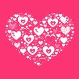 De witte Dag van hartvalentine s stock illustratie