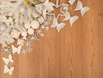 De witte decoratie van Kerstmis Royalty-vrije Stock Foto