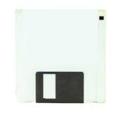 De witte diskette voor een computer isoleert Stock Foto