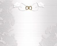 De witte duiven van de Uitnodiging van het huwelijk Royalty-vrije Stock Fotografie