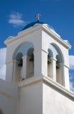 De Witte en Blauwe Bouw van Griekenland royalty-vrije stock afbeeldingen