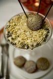 De witte en Donkere Mousse van de Chocolade Stock Fotografie