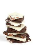 De witte en Donkere Schors van de Chocolade royalty-vrije stock afbeeldingen