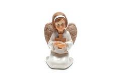 De witte Engel van Kerstmis Stock Afbeelding