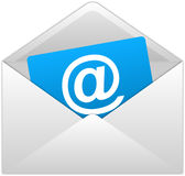 De witte Enveloppen van de Post Royalty-vrije Stock Afbeelding