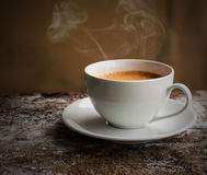 De witte espresso van de kopkoffie Kop van Koffie, Rustig Stilleven, Stock Fotografie