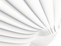 De witte futuristische achtergrond van het streeppatroon 3d geef illustratie terug Royalty-vrije Stock Foto