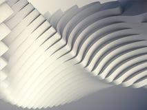 De witte futuristische achtergrond van het streeppatroon 3d geef illustratie terug Stock Foto's