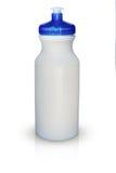 De witte geïsoleerde fles van het sportenwater Stock Afbeeldingen