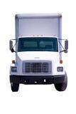 De witte geïsoleerdee Vrachtwagen van de Levering Royalty-vrije Stock Foto