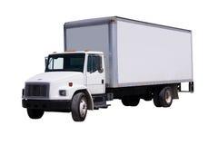 De witte geïsoleerdee Vrachtwagen van de Levering Stock Afbeeldingen