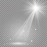 De witte gloeiende transparante disco steekt achtergrond aan Stock Foto