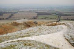 De witte Heuvel van het Paard Stock Afbeelding