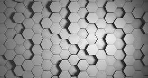 De witte Hexagonale Achtergrond van de Vloerlijn stock videobeelden
