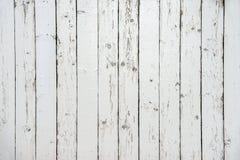 De witte houten foto van de omheiningsclose-up Stock Afbeeldingen