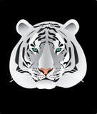 De witte illustratie van het tijgerportret Stock Foto