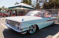 De witte Impala van Chevrolet van 1961 Stock Afbeelding
