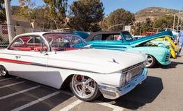 De witte Impala van Chevrolet van 1961 Stock Fotografie