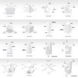 De witte infographic 3d Vector van het Grafiekmalplaatje Stock Afbeeldingen