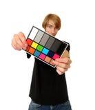 De witte Kaart van de Kleur van het Saldo Stock Foto