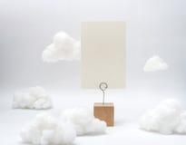 De witte kaart van de textuur lege naam Stock Fotografie