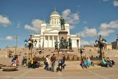 De Witte Kathedraal van Helsinki Stock Foto