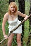 De witte kleding Stock Foto's