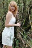 De witte kleding Stock Afbeeldingen
