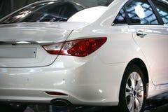 De witte kleur Korea Seoel van de auto royalty-vrije stock afbeelding