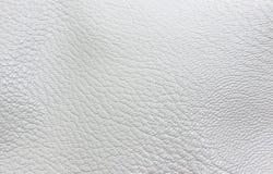 De witte kleur van het textuur faux leer Stock Afbeelding