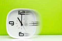 De witte klok van het tijdconcept stock foto's
