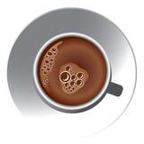 De witte kop van de Koffie Stock Foto's
