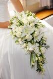 De witte lelies van bruiden stock foto