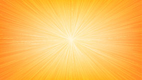De witte Lichte Uitbarsting Ray van de Snelheidslijn op Oranje Achtergrond Stock Afbeeldingen