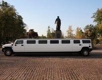 de witte limousine van het Huwelijk stock afbeelding