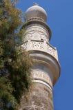 De witte minaret van de steenmoskee Royalty-vrije Stock Afbeeldingen