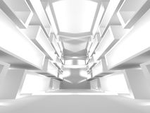 De witte Moderne Binnenlandse Achtergrond van de Architectuurbouw Royalty-vrije Stock Afbeelding