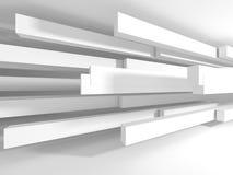 De witte Moderne Binnenlandse Achtergrond van de Architectuurbouw Royalty-vrije Stock Afbeeldingen