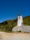 De witte molen van Griekenland Stock Foto's