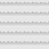 De witte naadloze achtergrond van het golven abstracte patroon Stock Foto's