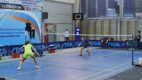 De Witte Nachten van St. Petersburg van badmintontoernooien stock video