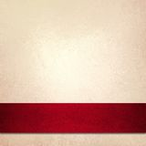 De witte omslag van het achtergrond rode Kerstmislint Stock Afbeeldingen
