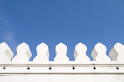 De witte oude stadsmuur Stock Foto
