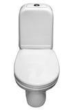 De witte pan van het porseleintoilet. Royalty-vrije Stock Afbeelding