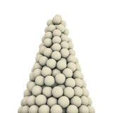 De witte piek van voetbalballen Stock Afbeelding